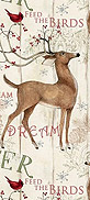 Winter Deer and Red Cardinals Pawkerchiefs